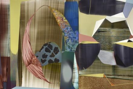 Entre tinieblas soy otra vez - (San Carlos Borromeo nuclear), 2017. Acrílico sobre lienzo, 250 x 830 cm.