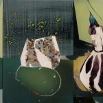Vida fluida, suerte y muerte, 2014. Acru00EDlico sobre  lienzo, 197 x 350 cm.(a)