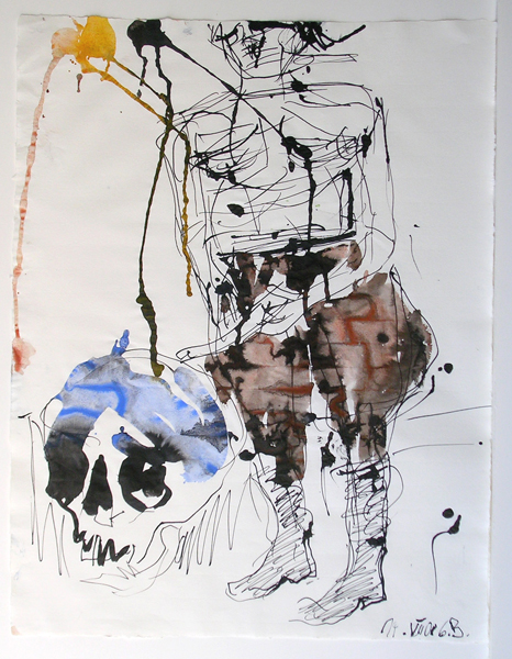 Big Night (Remix), 2008. Tinta y acuarela sobre papel, 65.8 x 50.6 cm