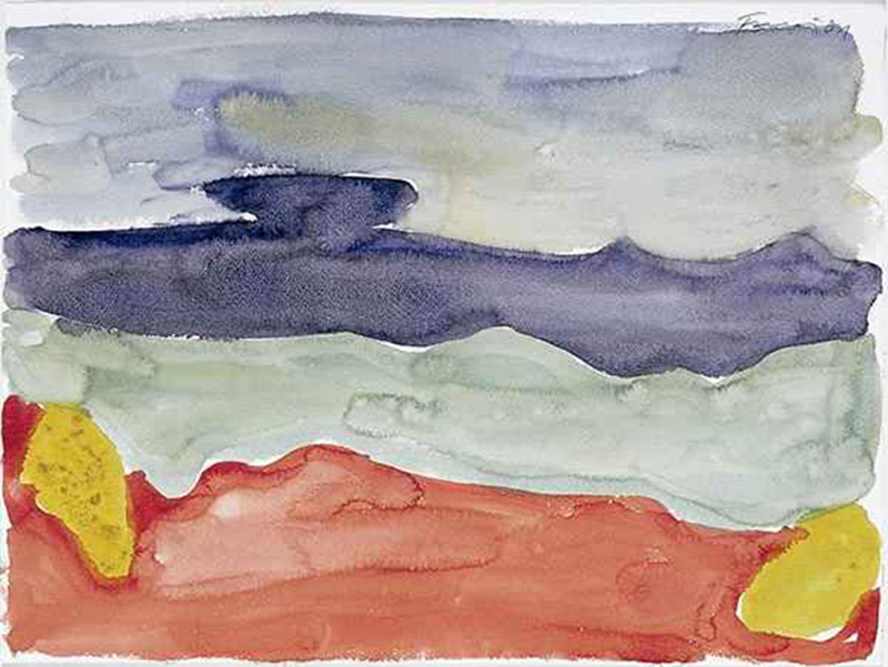 Standomi un giorno solo a la fenestra, 2001. Acuarela sobre papel de 36 x 48 cm