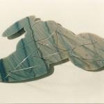 Fontal, 2008 Escultura de pared, mármol y acero 50 x 30 x 2 cm. Edición de 12 ejemplares