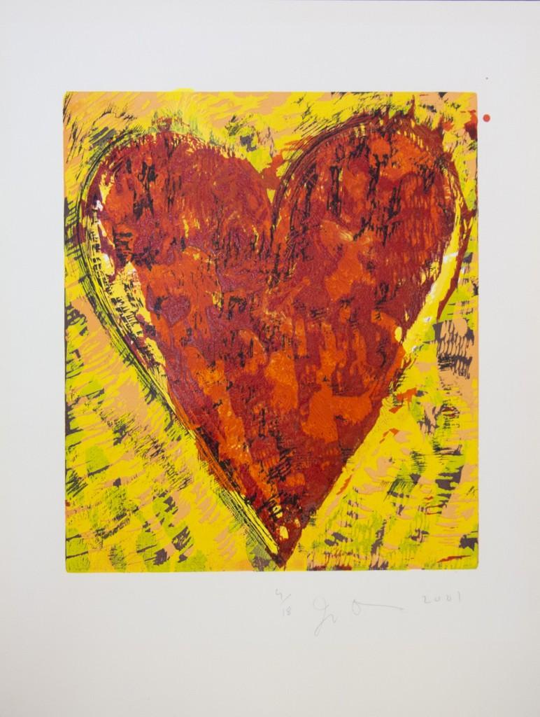 Untitled (Little Heart), 2001 Xilografía iluminada a mano 58.4 x 44.5 cm. 18 ejemplares