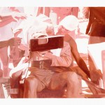 Miguel Aguirre: JK F (off)_III, 2011. Óleo sobre papel, 35 x 50 cm