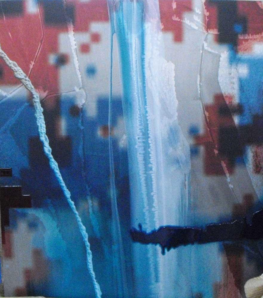 Darío Urzay: ST, 2010. Técnica mixta sobre aluminio de 144 x 122 cm.