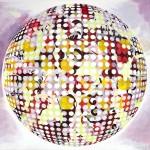 Esfera #7. Óleo, acrílico e impresión digital sobre lienzo de 2010, con un tamaño de 185 x 232 cm