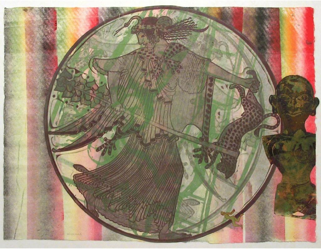 Maenad, 1999 Mixta sobre papel 50.2 x 62.2 cm.