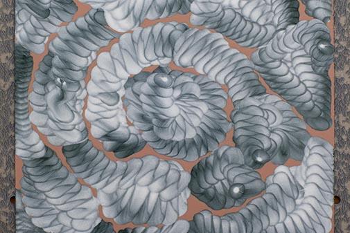 Cúmulo nº 11, 2019. Tint a china y acrílico sobre cartón, 31 x 24 cm.