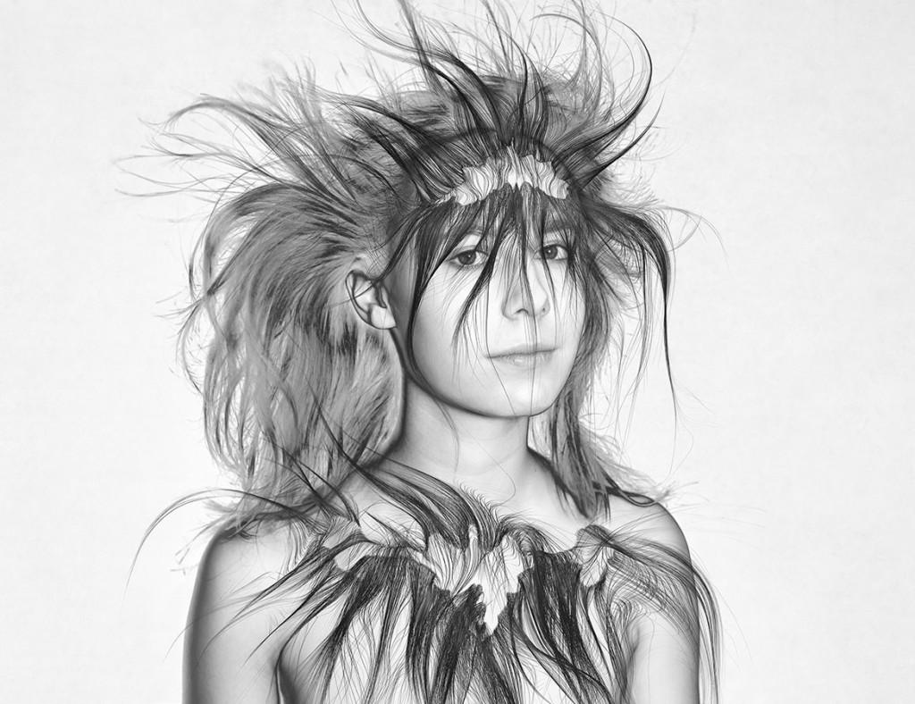 La Mujer Barbuda (María), Imagen digital sobre papel de algodón. 100 x 130 cm. Edición de 3