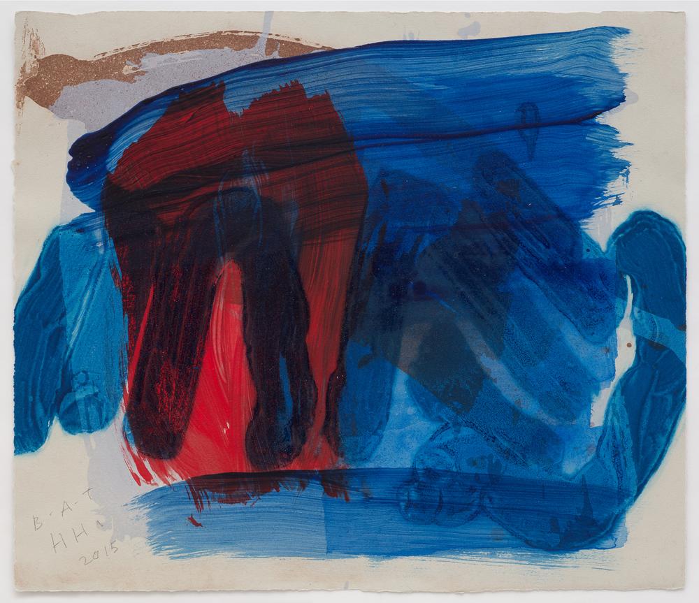 Coast (From After All), 2015-16. Aguatinta, carborundum iluminado a mano. Edición de 30. 36 x 42 cm.