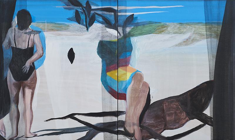 Sin Título, 2016. Óleo sobre lienzo (Díptico). 55 x 92 cm.