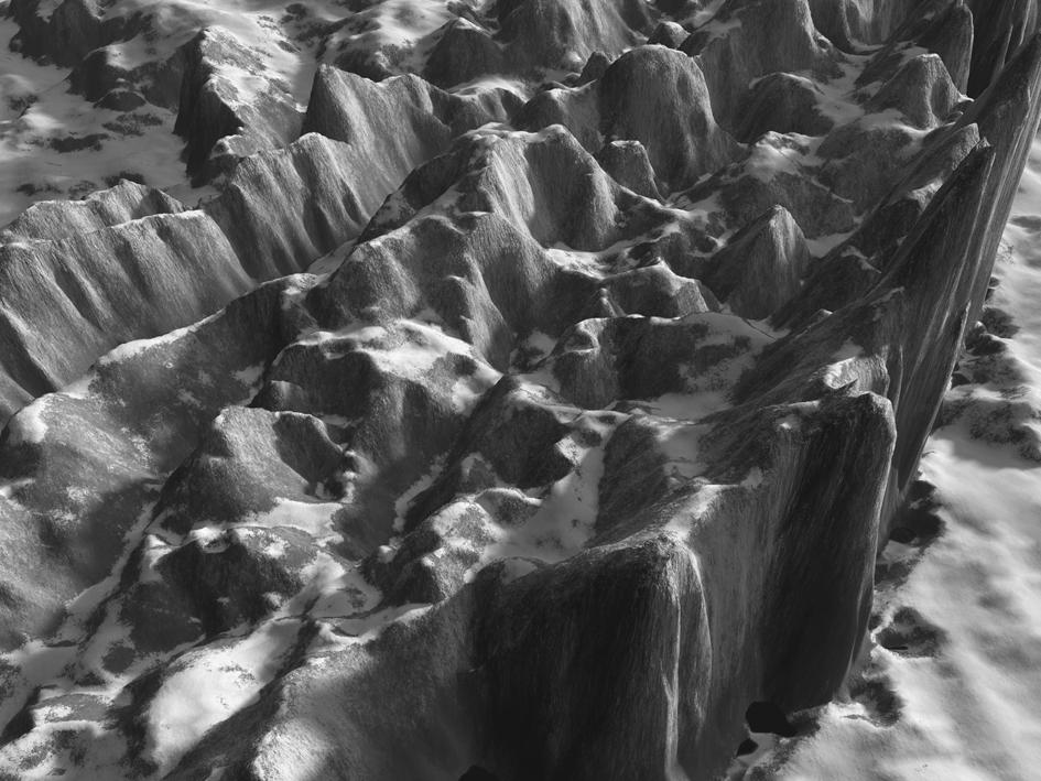Orogenisi: Anonymous (The Wave), 2009. Gelatin Silver Print. 75 x 100 cm. Edición de 5
