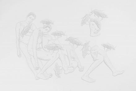 Sin Título. Serie Dimensiones encontradas, 2018. Papel perforado. 32.5 x 46 cm.