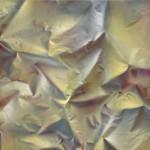Como oro en paño, 2017-18. Acrílico lienzo y madera, 244 x 195 x 10 cm.