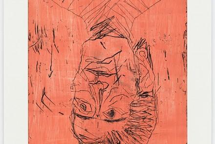 Georg Baselitz. Devotion - Madame Rousseau II (rose), 2018. Aguatinta. 85.6 x 65.2 cm. Edición de 12